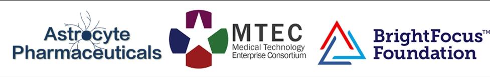 Astrocyte Pharmaceuticals, Medical Technology Enterprise Consortium, BrightFocus Foundation